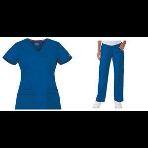 Dickies Royal Blue Scrub Set